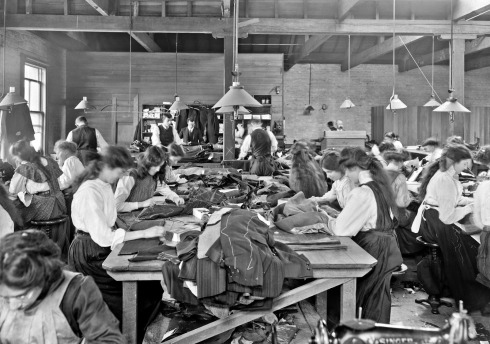 Tailoresses at work, clothing factory, Christchurch, 1911
